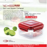 Ezy Lock Square Container 1.4L